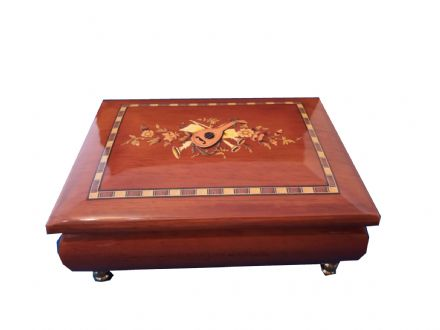 Classical Instrument Inlay Music Box 70506
